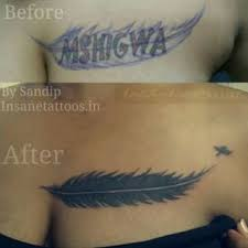 cover up feather tattoo insane tattoos