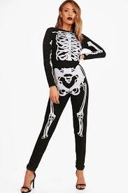 Skeleton Jumpsuit Regan Knitted Skeleton Halloween Jumpsuit Boohoo