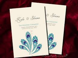 indian wedding program template royal peacock indian wedding program design prints diy