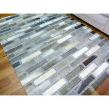 Patchwork Area Rug Patchwork Leather Rug Cowhide Leather Patchwork Floor Area Rug