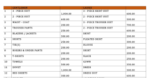cleaning service prices list probrains org