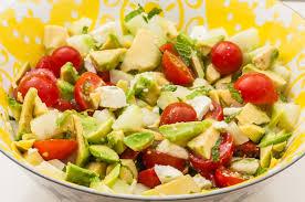 blogs cuisine facile salade de concombre à l avocat et à la fêta kilometre 0 fr
