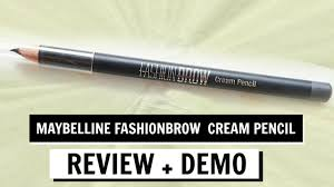 Maybelline Pensil Alis maybelline fashion brow pencil review demo