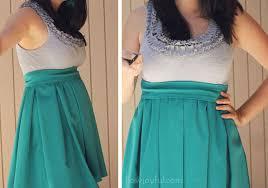 how joyful blog the upcycled ruffles dress tutorial