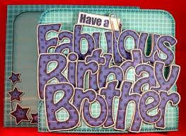 3d birthday brother pop out word card kit cup297137 359