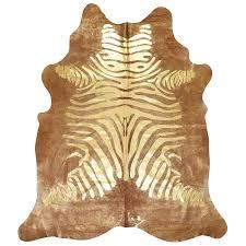 metallic zebra cowhide rug rug designs