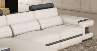 canapé angle cuir gris deco in canape d angle cuir blanc et gris design avec