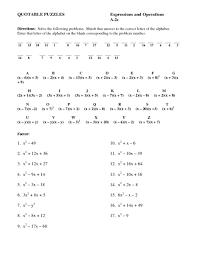 free worksheets algebra puzzle worksheets free math worksheets