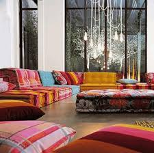 moroccan style living room display wall shelves and cabinet as