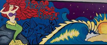Surf Mural by Pacific Beach Mermaid Mural Mission Beach Pacific Ocean