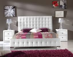 Leather Tufted Headboard White Leather Tufted Headboard With Crystals Home Design Ideas
