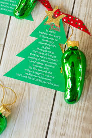 christmas pickle christmas pickle ornament free printable frog prince paperie