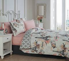 Fabulously Feminine Paris Eiffel Tower Piece Queen Comforter - Eiffel tower bedroom ideas