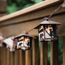 amazon com black bear rustic lantern string lights cabin