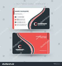 doublesided business card template abstract red stock vector