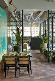 design crush pan asian restauarant foreign concept western living two custom wall murals are seen in the dining spaces the photos were enlarged and had colour added to them primarily a deep turquoise to better match the