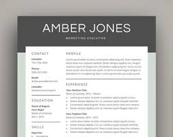 Resume Templates For Mac Also by Resume Template Mac Etsy