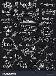 wedding sentiments handwritten wedding sentiments stock vector 626688134