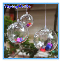 clear plastic acrylic fillable ornament 80mm clear plastic