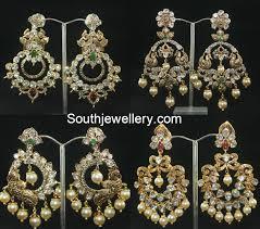 pachi work earrings pachi chandbalis jewellery designs