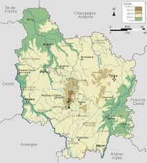 France Region Map by Physical Map Of Region Bourgogne France Bourgogne Pinterest