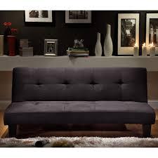 Microfiber Futon Couch Oxford Creek Convertible Futon Black Microfiber Suede Home