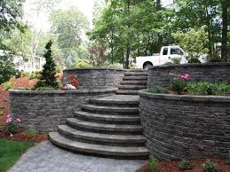 Retaining Wall Stairs Design If Your Yard Slopes This Is The Solution A Block