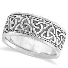 celtic rings bands images Men 39 s hand made celtic irish wedding band 18k white gold 10mm ub966 jpg