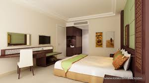 Bedroom 3d Design Architectural Visualization Hotel Bedroom