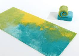 Teal And Green Rug Yellow Bathroom Rugs Signature Stripe Bath Rug 17in X 24in