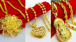 necklace pendant design gold images Gold pendant design with chain jpg
