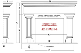 Standard Fireplace Dimensions by Whitney Classic Stone Fireplace Mantel Mantelsdirect Com