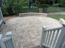 Lowes Patio Pavers by Exterior Design Exciting Nicolock Pavers With Cozy Stone Bench
