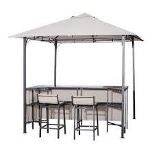 gazebo 8x8 84b 067 outsunny 8 x 8 outdoor covered bar gazebo set w barstools
