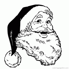 picture santa claus coloring