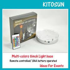 Led Vase Base Light 50x Round Multi Color Centerpieces Lighting 6
