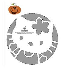 Halloween Stencils Printable by Free Hello Kitty Pumpkin Templates Popsugar Tech