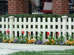 Fence Line Landscaping by Picket Fence Ideas For Instant Curb Appeal Planting Gardens And
