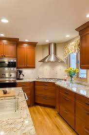 updated kitchen ideas shaker cabinetry stained cherry shaker cabinetry granite