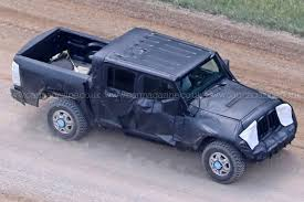 concept jeep truck new 2019 jeep wrangler u0027jt u0027 pick up truck spotted by car magazine