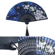 held paper fans handmade folding fan bamboo silk flower pattern held