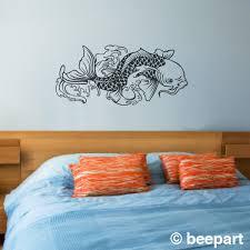 koi fish vinyl wall decal sticker art japanese traditional zoom