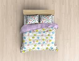 Free Bed Sets Bed Linens Mock Up Bedding Set Template By Ayashi Graphicriver
