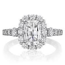 scalloped engagement ring henri daussi avd cushion scalloped halo engagement ring