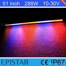 Led Blue Light Bar by 51 Inch 288w Epistar White Red Blue Flash Led Light Bar For