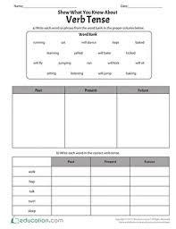 past tense verbs worksheets education com