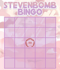 stevenbomb bingo card template stevenuniverse
