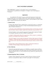Equity Investment Agreement Template investment agreement template shatterlion info