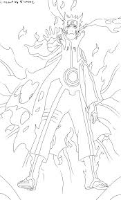 naruto 571 kyuubi mode lineart by tianare on deviantart