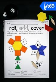 roll and cover pattern block mats shape games fun math and the dice